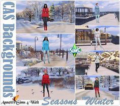 CAS Backgrounds Seasons Winter at Annett's Sims 4 Welt The Sims, Sims 4 Cas Background, Sims 4 Gameplay, Sims 4 Update, Seasons, Winter, Backgrounds, Blog, Winter Time