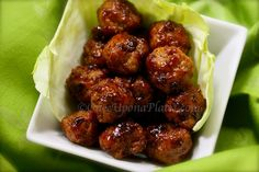 Once Upon a Plate: Healthy Turkey Mini-Meatballs with Honey-Chipotle Glaze