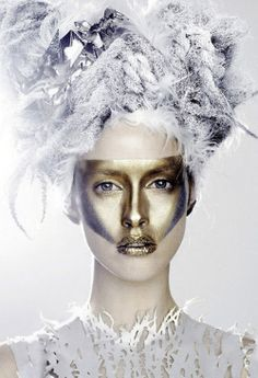 gold will be my face  julia frauche by kenneth willardt for vogue japan