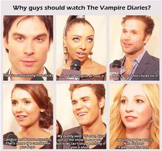 http://delena-passion.tumblr.com/page/7    Why guys should watch The Vampire Diaries....because of the hot chicks! lol