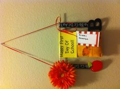 Use a package of sachets, some ribbon, a dowel rod, and hot glue:  a little gift for Teacher on the First Day:-)
