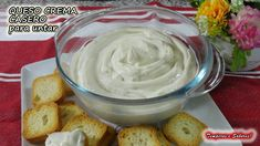 QUESO CREMA CASERO con solo 2 ó 3 ingredientes mejor imposible Sweet Crepes Recipe, Natural Yogurt, Latin Food, I Love Food, Tapas, Food To Make, Food And Drink, Favorite Recipes, Homemade