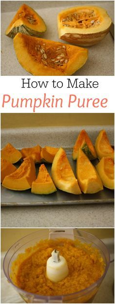 How to Make Pumpkin Puree from scratch - it's so easy and takes only ten minutes of prep time!