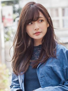 Japan Model, Medium Long Hair, Asian Doll, Cute Asian Girls, Hair Photo, Japanese Beauty, Hair Inspo, Cute Hairstyles, Hair