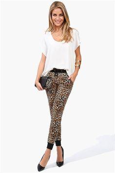 Leopard Jogger Pants in Leopard