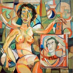 Nude With Self-Portrait (1973) - Mohammad el Rawas