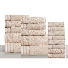 Shop for Panache Home Jacquard Collection Luxurious Cotton 18-piece Towel Set. Ships To Canada at Overstock.ca - Your Online Bath & Towels Destination!  - 20352546
