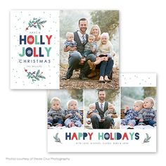 Jolly Christmas - Christmas card template available through Jen Boutet Photography with your portrait session in Charlottesville, Va. www.jenboutet.com