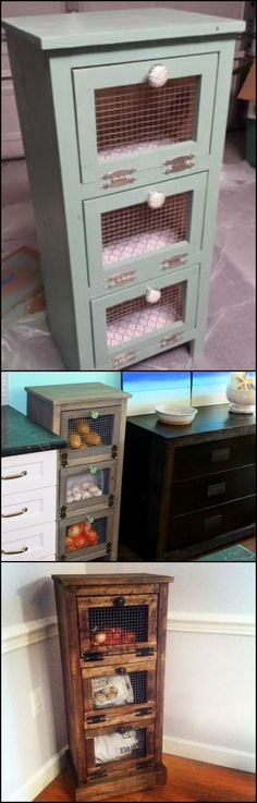 Anyone looking for more vegetable storage ideas? Take a look at this nice yet simple DIY vegetable bin cupboard!  http://diyprojects.ideas2live4.com/2016/01/28/how-to-build-a-vegetable-bin-cupboard/  Functional design, not too space-consuming yet it provides a lot of room in each compartment. Perfect for when you are in need of additional storage in the kitchen!  You can use this DIY storage for other things, too!  Do you need one at home? :)