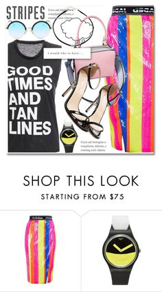 Big, bold stripes by paculi on Polyvore featuring Topshop, Swatch, LG, StreetStyle, casual, preppy and BoldStripes