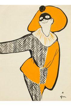 The Gruau Man exhibition from the Fashion Illustration Gallery Jacques Fath, Marie Claire, Pierre Balmain, Dior, Fashion Images, Fashion Art, Fashion Shoes, Elsa Schiaparelli, Rene Gruau