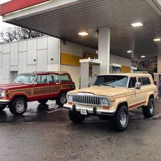 Original Jeep Grand Wagoneer and full size Cherokee