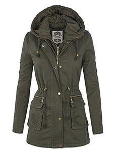 7be7bff93365b MBJ Womens Military Anorak Safari Hoodie Jacket at Amazon Women s Coats Shop