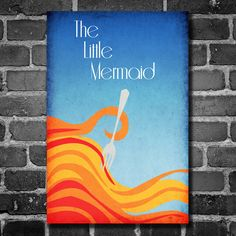 The Little Mermaid movie poster Disney minimalist poster geekery art nursery print by ThePowerCosmic on Etsy https://www.etsy.com/listing/179792458/the-little-mermaid-movie-poster-disney