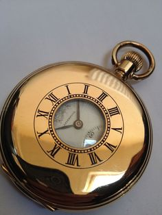 MINT - *Thomas Russell* Half Hunter Pocket Watch (WORKING).