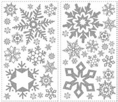 RoomMates RMK1413SCS Glitter Snowflakes Peel & Stick Wall Decals - Amazon.com
