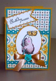 Handmade greeting card Penny black card by BulandsBathBoutique