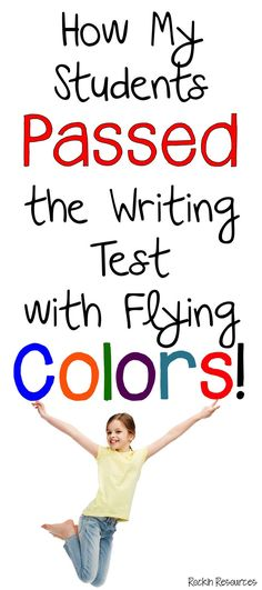 My Students Passed the Writing Test Awesome ideas to teach writing AND keep your students highly motivated to write AND PASS THAT TEST!Awesome ideas to teach writing AND keep your students highly motivated to write AND PASS THAT TEST! Fourth Grade Writing, Writing Test, Writing Curriculum, Paragraph Writing, Narrative Writing, Persuasive Writing, Writing Lessons, Teaching Writing, Writing Activities