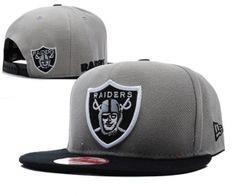 Casquette Oakland Raiders Snapback Gris Et Noir   Casquette Pas Cher 900e8109d77