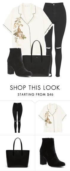 """Outfit #1736"" by lauraandrade98 on Polyvore featuring Topshop, MANGO, Lacoste and Witchery"