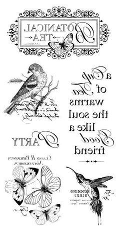 Birds and butterflies Decoupage Vintage, Decoupage Paper, Vintage Paper, Vintage Labels, Vintage Ephemera, Printable Labels, Printables, Foto Transfer, Heat Transfer