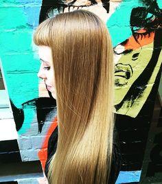 V Bangs, Baby Bangs, Short Bangs, Bun Hairstyles For Long Hair, Hairdos, Straight Hairstyles, Girl Hairstyles, Blunt Fringe, Fringe Bangs
