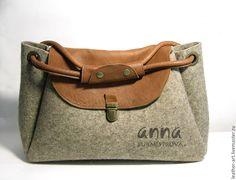 Купить Сумка войлочная женская Ореховая - серый, войлок, войлочная сумка, женская  сумка Выкройка 47fa1e7b01b