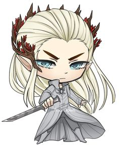 Hobbits: Chibi Thranduil by PencilCrown on deviantART