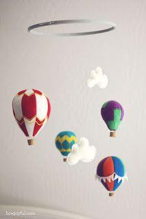 Zelf maken met VILT - Luchtballonmobiel