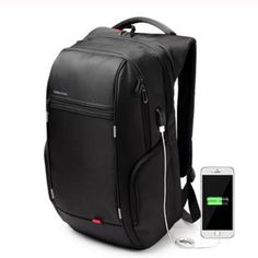 Antitheft Notebook Laptop Mochila Backpack Bag. Fits 15.6 Inch Laptop, Waterproof with External USB Charge