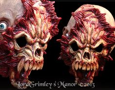 Open Mind Demon Price: $32.99  When the skull of a bear attempts to occupy your cranium at the same location in time and space, you might have a slight headache upon its completion.  Full over the head latex mask. Hand-Painted with excellent detail and craftsmanship. Your satisfaction is guaranteed.  Questions ? Contact us at order@lordgrimley.com