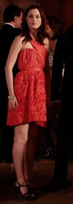 3x20 So lovely. Amazing shoes. Alexandra Vidal Spring 2010 dress. Yves Saint Laurent shoes.