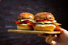 Crispy Bacon Egg Breakfast Sandwich