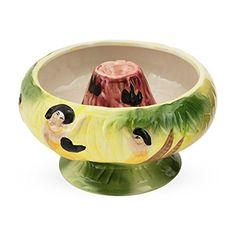 Volcano Bowl Ceramic Tiki Drink Bowl - 32 oz