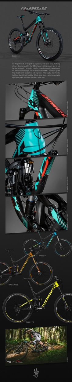 2015 Norco Range C bicycle graphics on Behance