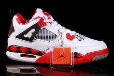 quite nice 9251d b47c4 Air Jordan Retro 4 Free White Black Red Men s shoes Air Jordan Iv,