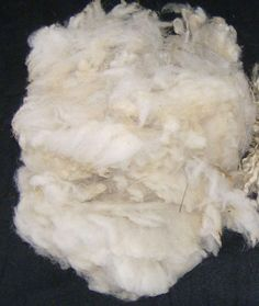 6) Now you have clean raw wool. Look what a lovely material it is! You can start spinning if you want.