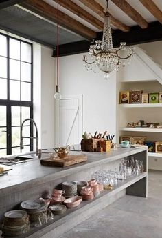 Consider Installing Kitchen Islands To Go With Your Unique Kitchen Design – Home Decor World Home Decor Kitchen, Rustic Kitchen, Kitchen Interior, Home Interior Design, Home Kitchens, Kitchen Ideas, Kitchen Walls, Small Kitchens, Luxury Interior