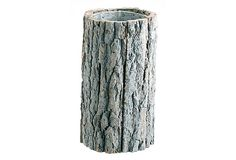 """Bark Vase, Large by Barreveld - Add an extra natural aesthetic to your flowers by containing them in this fabulously lifelike bark vase. 9.8""""H x 5.3""""Dia"""
