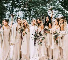 Whitney Carson's winter wedding  bridesmaids dresses