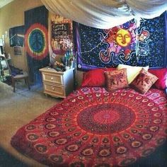 hippie bedroom 535998793149257736 - Source by mdhcouture Hippie Bedroom Decor, Bohemian Room, Hippie Home Decor, Hippie Bedrooms, Bohemian Homes, Boho Decor, Mundo Hippie, Estilo Hippie, My New Room