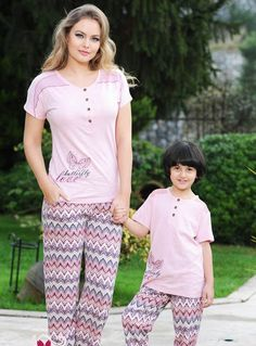Feyza, Anne Kız Yazlık Pijama Takımı 1719   Anne-Kız Pijama Koleksiyonu http://www.pijama.com.tr/anne-kiz-pijama