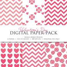 Free Valentine's Day Digital Scrapbook Paper