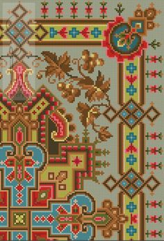 ru / Photo # 5 - different mats - potok-mm Folk Embroidery, Cross Stitch Embroidery, Embroidery Patterns, Cross Stitch Borders, Cross Stitch Patterns, Bead Crochet Rope, Persian Carpet, Kilim Rugs, Quilts