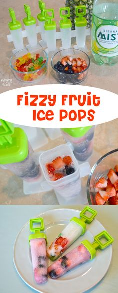 Fun and easy fizzy ice pops you can fill with gummy bears or fruit