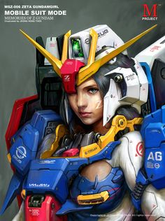 Z Gundam Girl by porco2