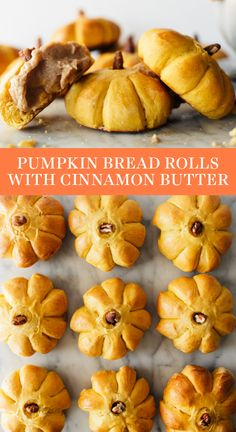 Pumpkin Bread Rolls stuffed with Cinnamon Butter are slightly sweet and festive with their adorable pumpkin shapes. Homemade, from-scratch recipe that is soft and surprisingly easy to make. Your family will LOVE these during fall or Thanksgiving dinner! Best Thanksgiving Recipes, Fall Recipes, Holiday Recipes, Thanksgiving Drinks, Thanksgiving Cookies, Thanksgiving Nails, Thanksgiving Sides, Pumpkin Cinnamon Rolls, Cinnamon Butter