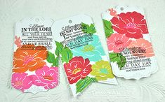 Beautiful bookmarks with new stamp sets from PTI
