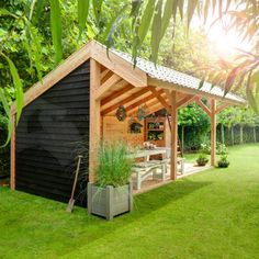 Kapschuren – Wesa Tuinhout Someren, – Rebel Without Applause Garden Gazebo, Backyard Sheds, Backyard Retreat, Backyard Patio, Backyard Landscaping, Outdoor Rooms, Outdoor Gardens, Outdoor Living, Bbq Shed