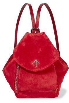Manu Atelier   Fernweh mini leather-trimmed suede backpack   NET-A-PORTER.COM